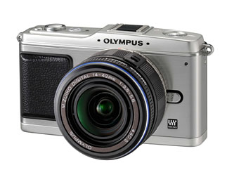 Olympus E-P1 front view