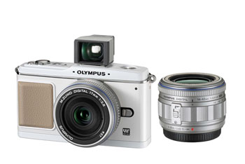Olympus E-P1 with 17mm lens and Viewfinder