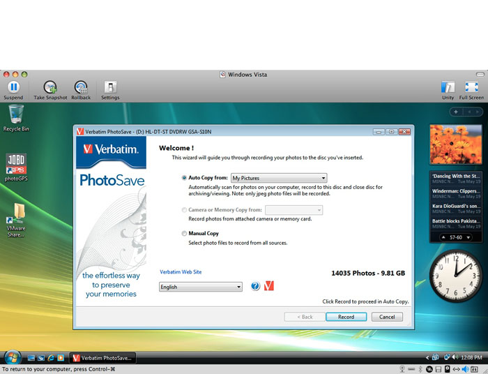 PhotoSave DVD Software