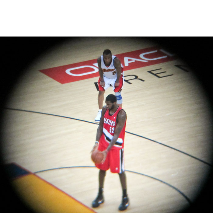 Greg Oden preparing to shoot