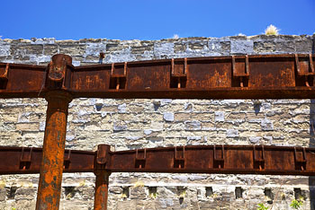 Rusty Beams from the Royal Naval Dockyard in Bermuda
