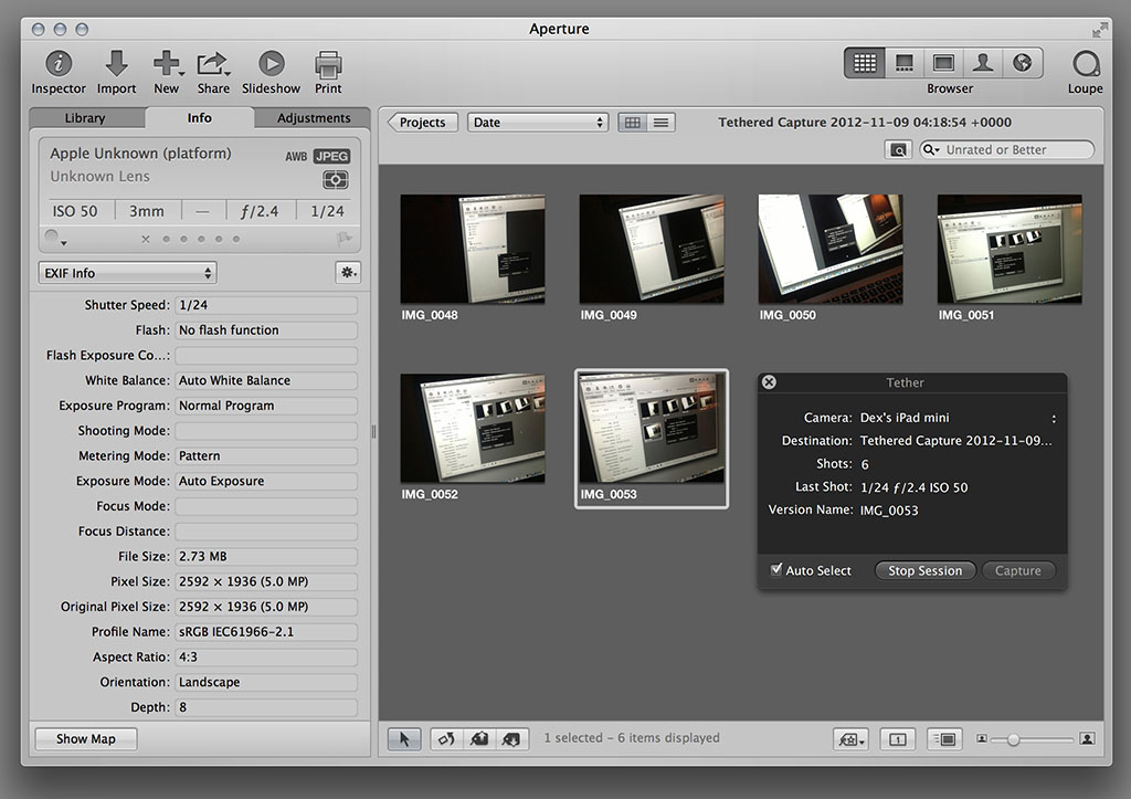 Hassle-Free Tethering with Aperture and iOS Devices - The Digital Story
