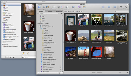 iPhoto 09 and Aperture 3 Libraries after Import to Aperture