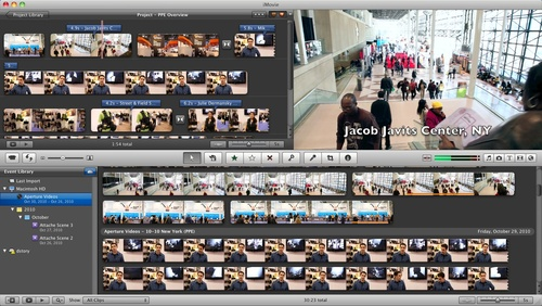 iMovie '11 Interface