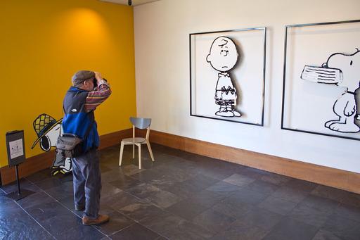 Ed at Schulz Museum