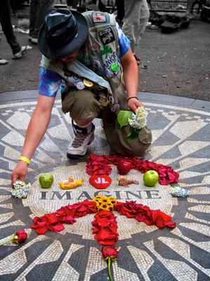 John Lennon Memorial by Kevin Miller