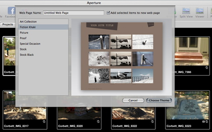 Themes for Aperture