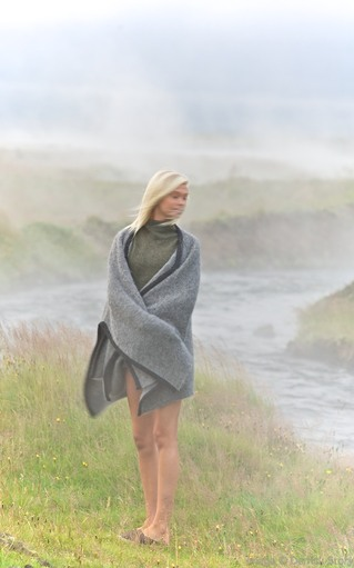Woman in Mist - Iceland