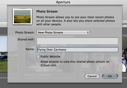 Photo Stream Dialog