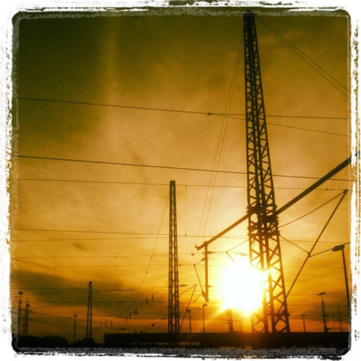 Power Lines - Setting Sun