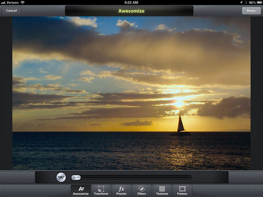 Camera Awesome for the iPad