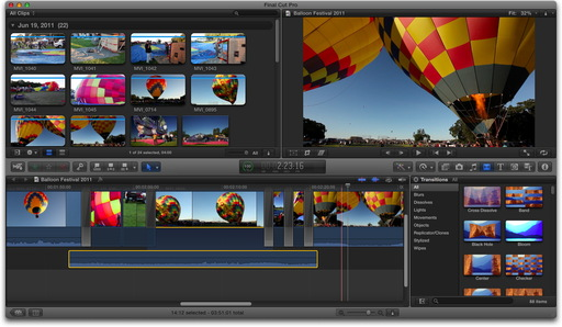 Final Cut Pro X Balloon Festival