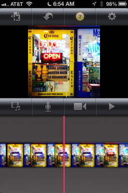 Instagram Video in iMovie for iOS