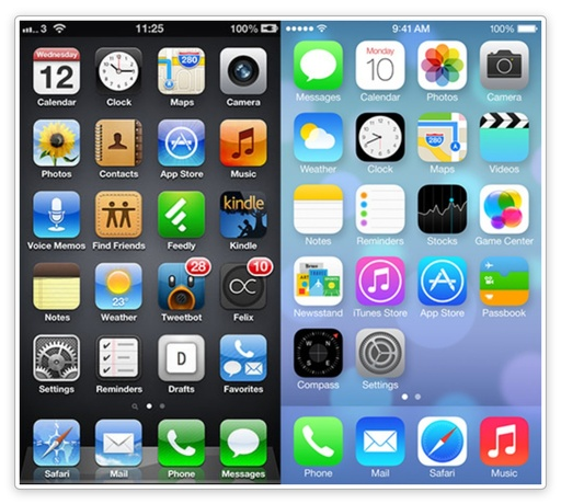 iOS 7 Home Screen beta