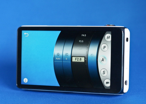 Samsung Galaxy GC110 Camera Back Side with LCD Showing Camera Settings