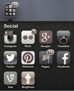 Social Networks on an iPhone