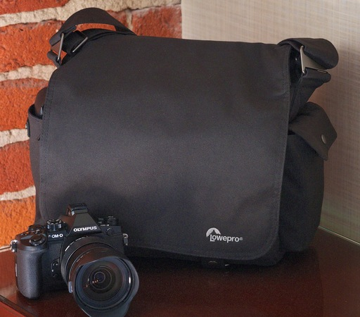 Lowepro Urban Reporter 150 with Olympus OM-D E-M1