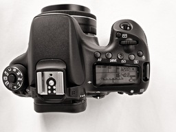 Canon 70D Top View