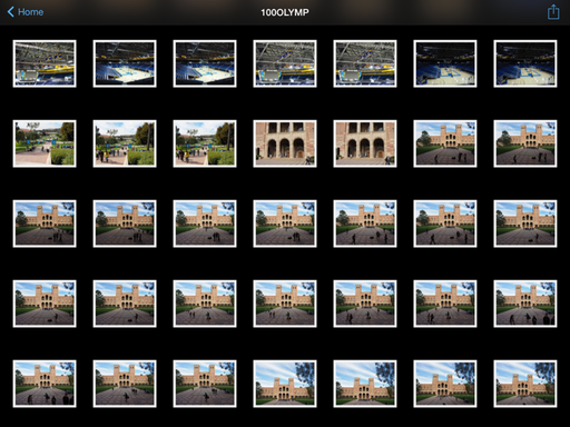 Browsing Thumbnails in Olympus Image Share
