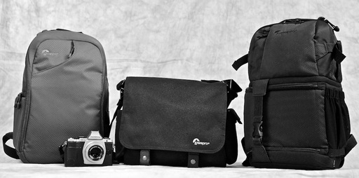 Three Types of Camera Bags