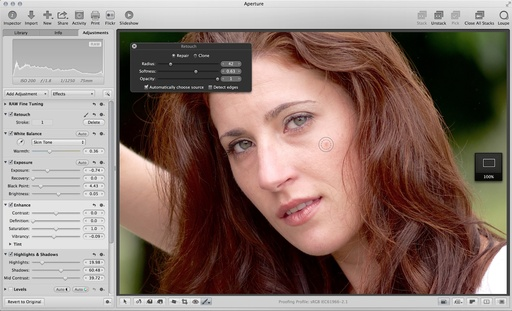 Portrait Retouching in Aperture