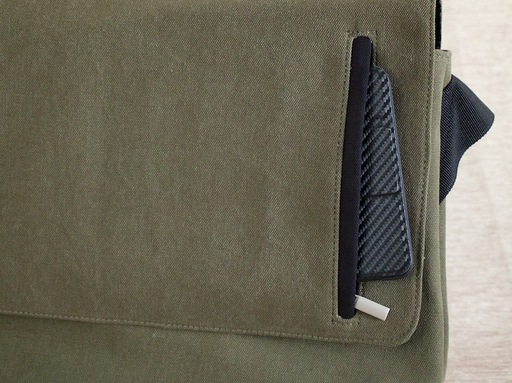 iPad mini in flap pocket
