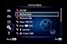 olympus-menu-custom-button